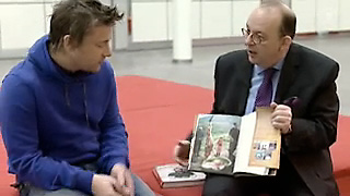 Jamie Oliver und Denis Scheck im Gespräch in der Sendung druckfrisch