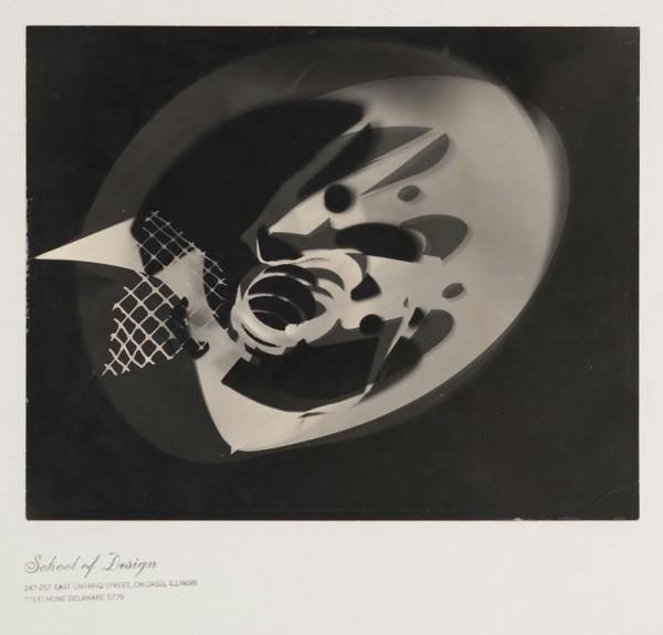 Fotogramm Moholy-Nagy, ca. 1938. (c) VG Bildkunst, Bonn, 2010