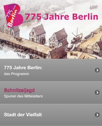 Web App Spuren des Mittelalters